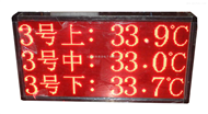 智能多通道温度显示屏连接系统