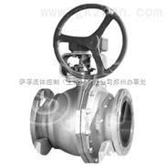 KITZ-G-150UTR法兰不锈钢涡轮球阀