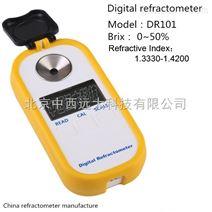 DR101数显糖度计折光仪(中西器材) 型号:DR101